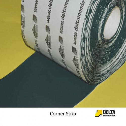 """1 Roll: Delta - Corner Strip Single Sided Tape - Butyl Rubber - 150mm - 6"""" x 20m"""
