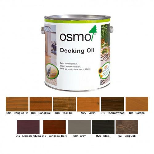 2.5ltr: Osmo - Decking Oil - Teak Oil - (007D)