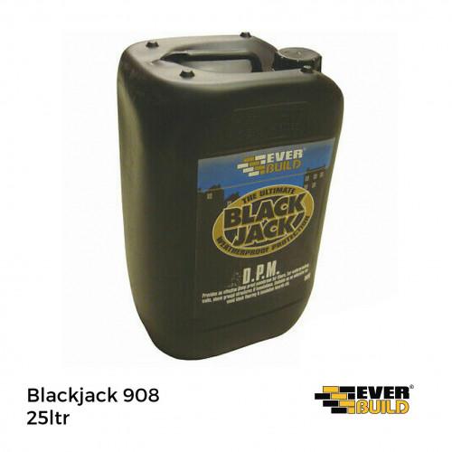 25ltr Tin: Everbuild Blackjack 908 Woodblock & Mosaic Bitumen Dipping Adhesive
