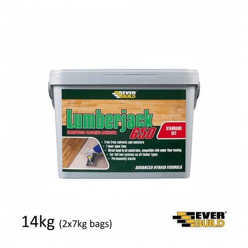 14kg Tub: Everbuild - Lumberjack 650 - MS Adhesive (2x7kg Foil Bags)