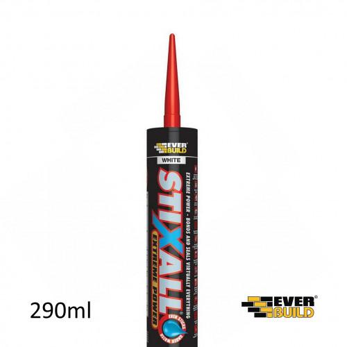 290ml Tube: Everbuild Stixall Adhesive & Sealer White