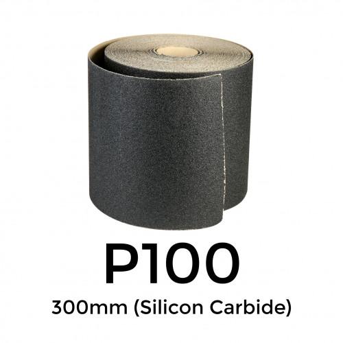 """50m Roll: P100 - Starcke - Silicon Carbide - Sandpaper - 300mm - 12"""""""