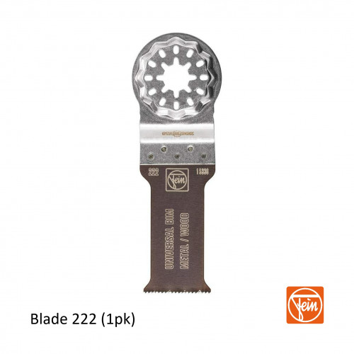 Fein - Starlock - E-Cut 222 form BIM universal saw blade - 28mm Width x 55mm Length - Single Pack - (replaces blade 151)