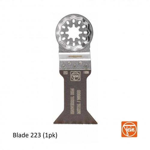Fein - Starlock - E-Cut 223 form BIM universal saw blade - 44mm Width x 55mm Length - Single Pack - (replaces blade 152)