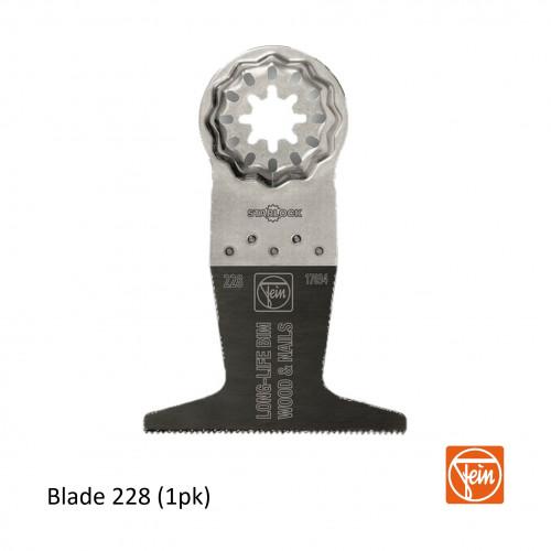 Fein - Starlock - E-Cut 228 form BIM Long Life saw blade - 65mm width x 50mm Length - Single Pack - (replaces blade 161)
