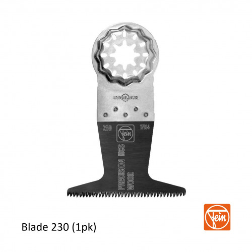 Fein - Starlock - E-Cut 230 form HCS Precision saw blade - 65mm Width x 50mm Length - Single Pack - (replaces blade 127)
