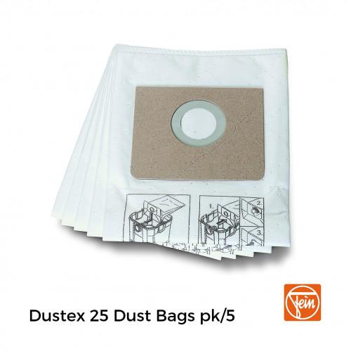 1pk: Fein - Fleece Standard Filter Bag for Dustex 25 - (5/pk)