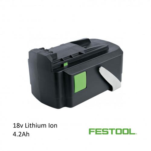 Festool (499751)- Battery Pack BPC 18v 4.2 Ah Li (compatible with T18+3 / PSC 420 / PSBC420)