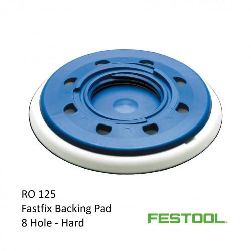 Festool - Fastfix - Backing Pad - Hard - 8 Hole - Fits Rotex RO125 - (492127)