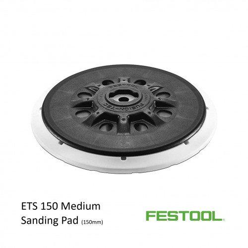 Festool - Circular Black Backing Pad - Medium - Fits ETS 150 - (202458)
