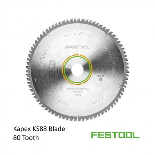 Festool - Saw Blade - 80 Tooth - For Kapex KS88 & KS120 Saw (494605)
