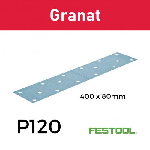 (497160) Festool - P120 - Granat - Sanding Sheets - 400x80mm - (50/Box)
