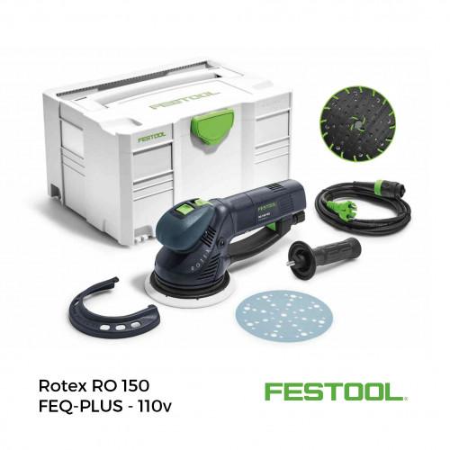 Festool - Rotex RO150 FEQ-PLUS - 110v (Bundle inc. 2x Systainers - Box of Abrasives - 1 x Soft Jetstream 2 Backing Pad)