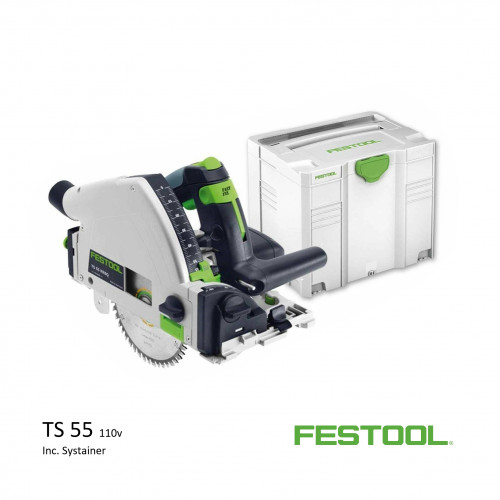 Festool - TS 55 REBQ+ FS - Circular Plunge Saw - 110v (inc systainer)