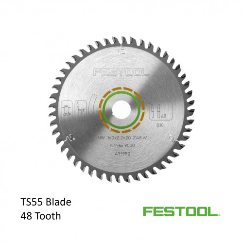 Festool - Saw Blade - 48 Tooth - For TS 55 Plunge Saw (491952)