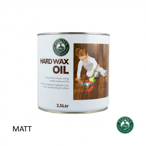 2.5ltr: Fiddes - Hard Wax Oil - Clear Matt