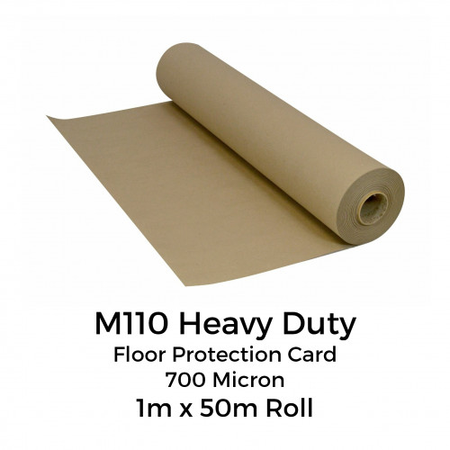 1 Roll: Florprotec - M110 - Heavy Duty Floor Protection Card - 700 Micron - 1m x 50m