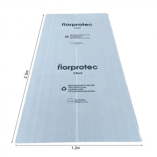 1 Sheet: Florprotec - T-Bord M50 - Flame Retardant to TS63 Floor Protection - 1.2m x 2.5m x 2mm