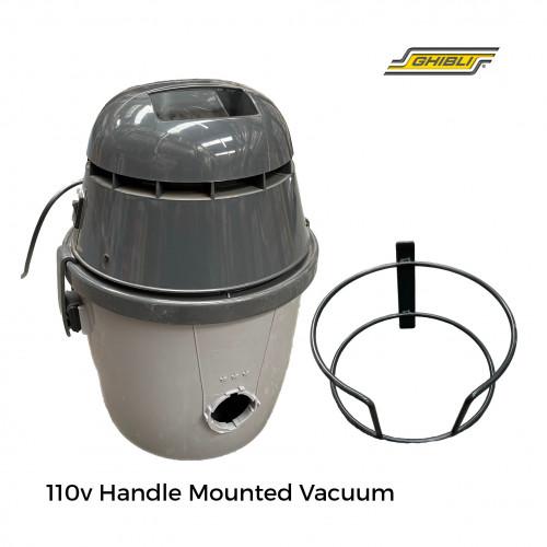 Ghibli - 110v Vac Unit Complete For Buffing Machine (inc, bracket+vac+pipes+skirt)