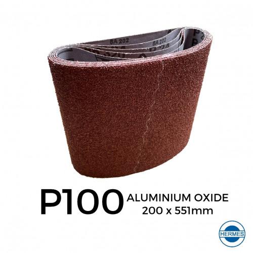 """P100 - Hermes - Aluminium Oxide - Sanding Belt - 200x551mm - 8"""""""