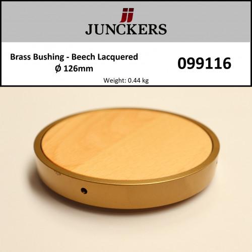 Junckers - Brass Bushing - Beech - SilkMatt - 126mm