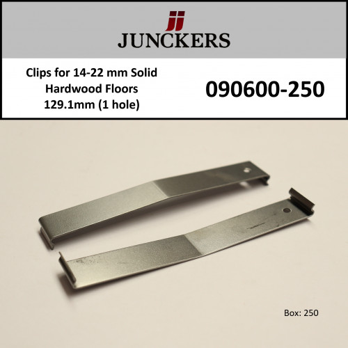 1 Box: Junckers - Clips - Green - 1 Hole 129.1mm - (250/Box) - for 14-22mm floors