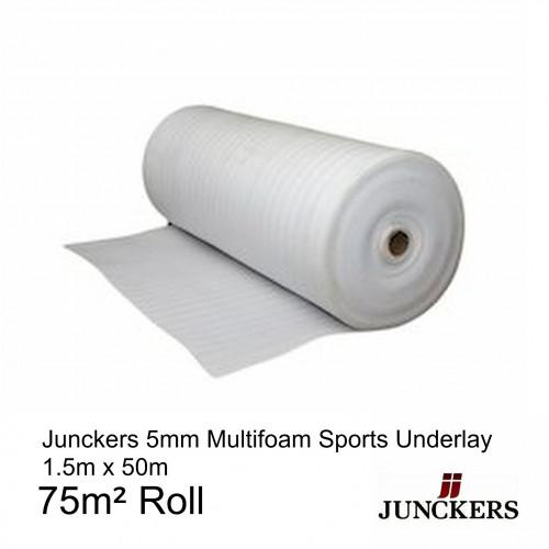 1 Roll: Junckers - MultiFoam - Sports Foam Underlay - 5mm x 1.5m - (75m²/Roll)