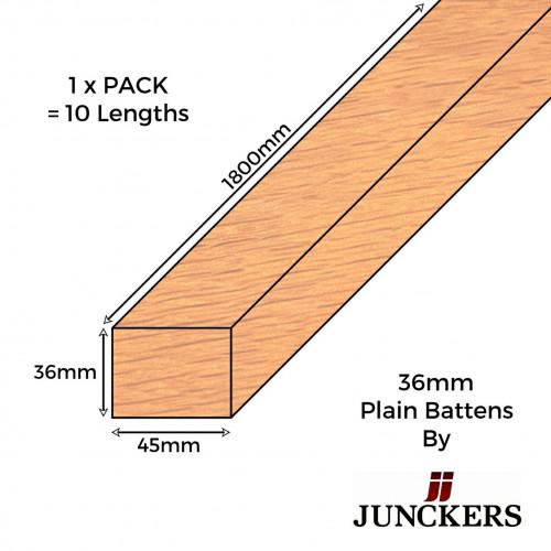 1pk: Junckers - New Era - Plain Battens - 36mm - 36x45x1800mm - (10pcs/pk)