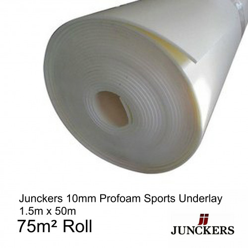 1 Roll: Junckers - ProFoam Underlay - SportsFoam Underlay - 10mm x 1.5m - (75m²/Roll)