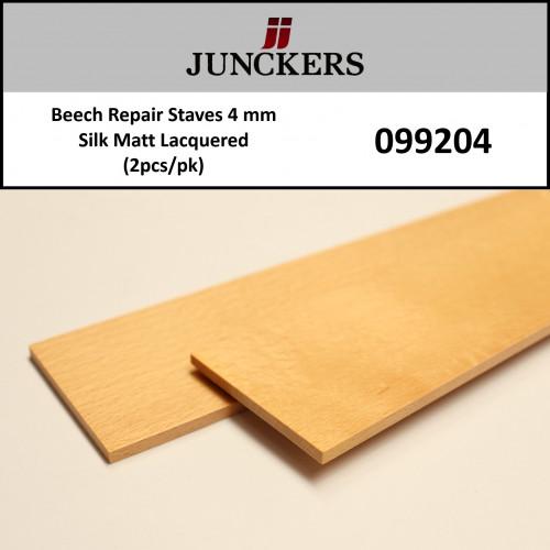 1pk: Junckers - Repair Staves - Beech - SilkMatt Lacquered - 4mm - (2pcs/bag)