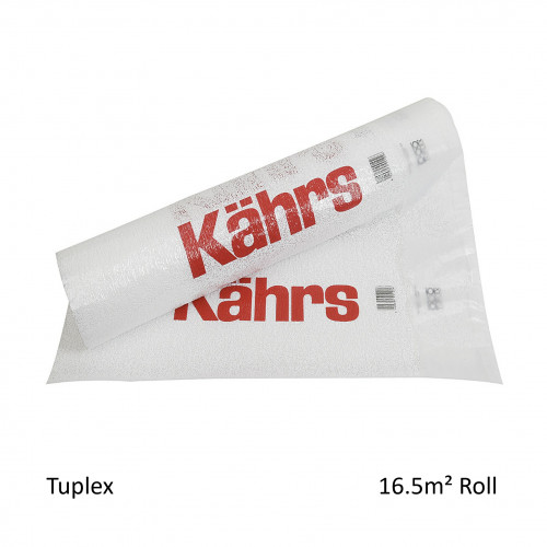 1 Roll: Kahrs - Tuplex - 3mm High Performance Underlay - Acoustic & Moisture Benefit - (16.5m²/Roll) - Consumer Pack
