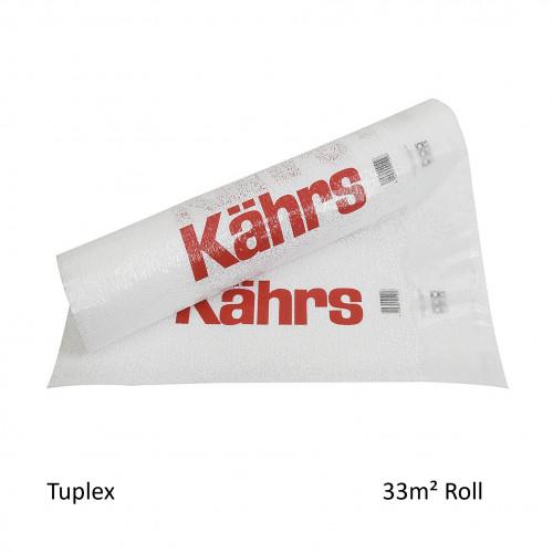 1 Roll: Kahrs - Tuplex - 3mm High Performance Underlay - Acoustic & Moisture Benefit - (33m²/Roll)