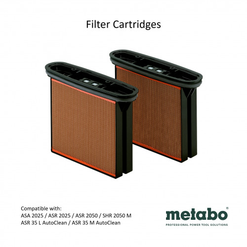 Metabo - ASR 2025 - 2x Filter cartridges