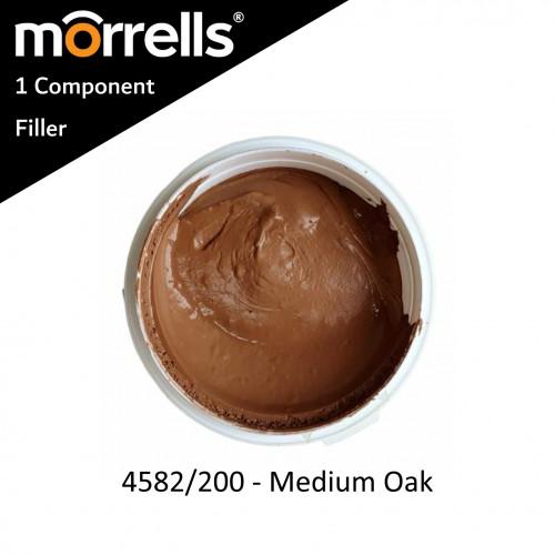 0.25ltr: Morrells - Wood Filler - 45 Range - 1K Filler - Medium Oak - 4582/200M