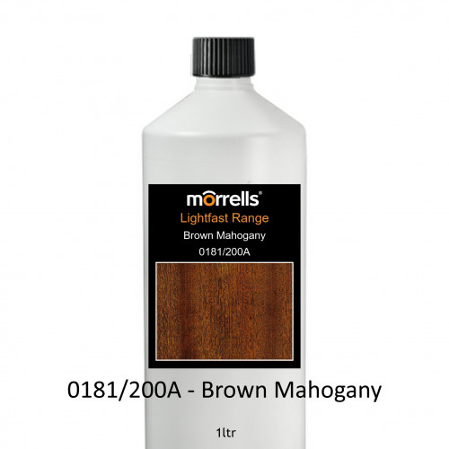 1ltr: Morrells - Light Fast Stain - Brown Mahogany - 0181/200A