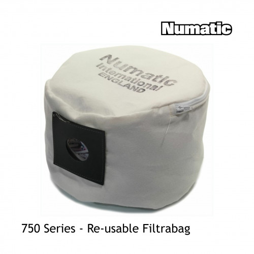 Numatic - 750 Series - Vac Re-useable Filtrabag