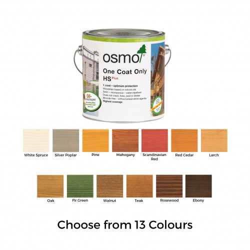 2.5ltr: Osmo - One Coat Only HS Plus - Ebony - (9271D)
