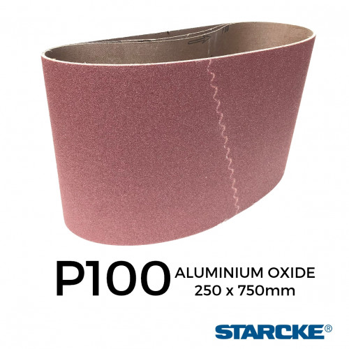 "P100 - Starcke - Aluminium Oxide - Cloth Backed Sanding Belt - 250x750mm - 10"""