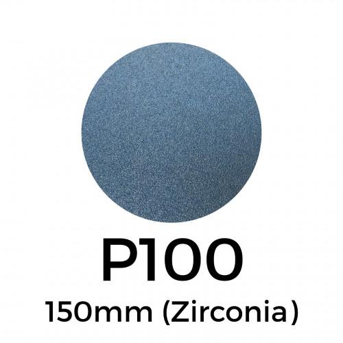 """1 Box: P100 - Starcke - Zirconia - Hook & Loop Sanding Discs - 150mm - 6"""" - (50/box)"""