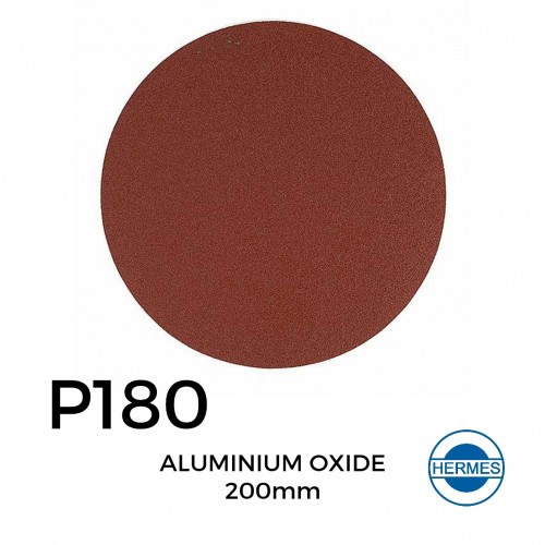 1 Box: P180 - Hermes - Aluminium Oxide - Hook & Loop Sanding Discs - 200mm - (50/Box)