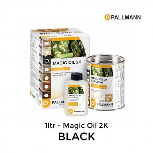 1ltr: Pallmann - Magic Oil 2K - Black - Including 0.17ltr hardener