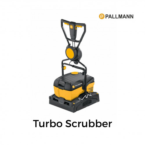 Pallmann - Turbo Scrubber - Powerful Suction Scrubber Machine - for the intensive surface cleaning of wooden floors and decking - 240v