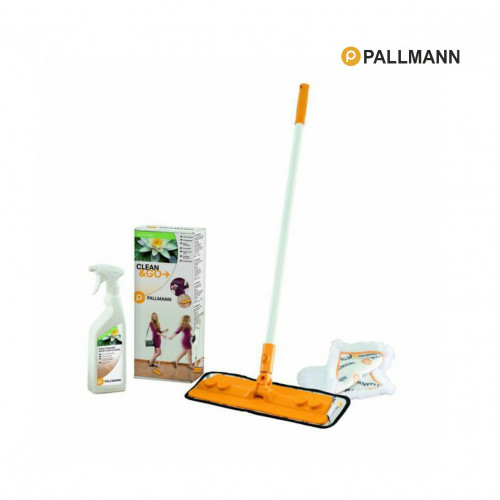 Pallmann - Clean & Go Mop Kit - Contains: Mop, Wood Floor Cleaner, Dusting Pad & Microfibre Pad