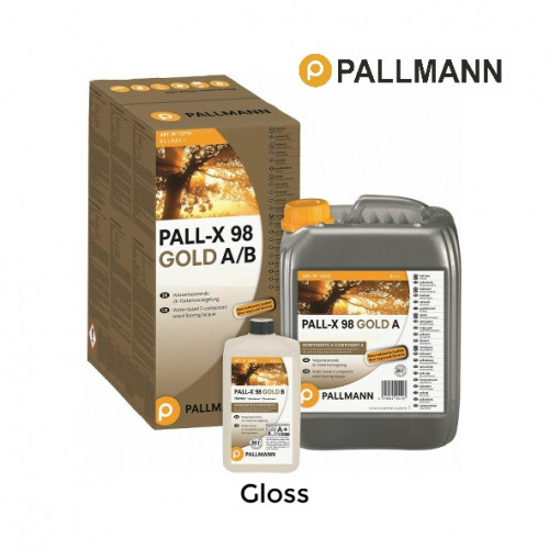 5.5ltr: Pallmann - Pall-x-98 - Gloss - 2K Water Based Lacquer - inc Hardener
