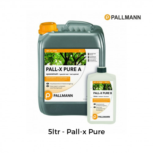 5.5ltr: Pallmann - Pall-x-Pure -  2K Water Based Lacquer - Special Extra Matt - Including Hardener