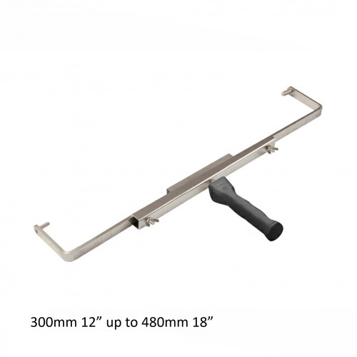 """Premier - Push Fit Variable Lugged Roller Frame - (300mm - 480mm) - (12""""-18"""") - Accepts 8mm End Cap Refills"""