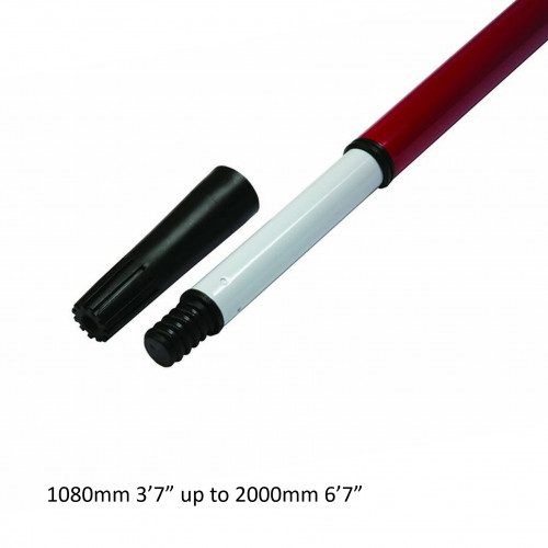 Premier - Applicator Pole - Contractor - Telescopic Twist & Lock - ScrewFit End with Push Fit Adaptor - 1-2m