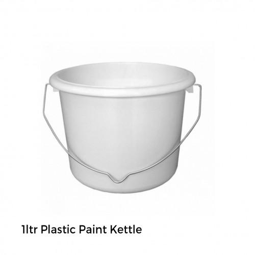 1ltr: Plastic Paint Kettle Pot (white)