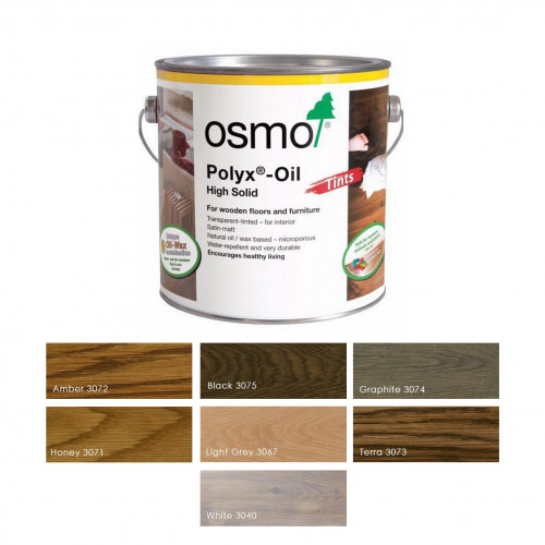 2.5ltr: Osmo - Polyx Oil - Tints - White - (3040D)