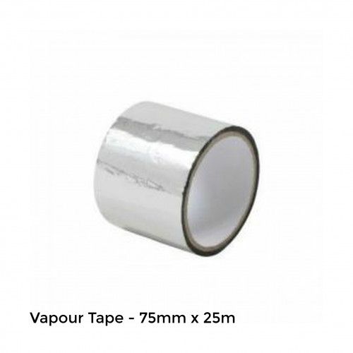 25m Roll: Vapour Tape - for use with Quicktherm Vapour Underlay - 75mm wide